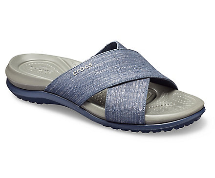 9655c691ed8b Women s Capri Shimmer Cross-Band Sandal - Crocs