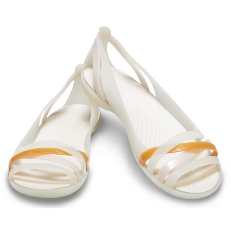 【クロックス公式】 クロックス イザベラ ワラチェ 2.0 フラット ウィメン Women's Crocs Isabella Huarache II Flat ウィメンズ、レディース、女性用 ホワイト/白 21cm,22cm,23cm,24cm,25cm flat フラットシューズ バレエシューズ ぺたんこシューズ 30%OFF