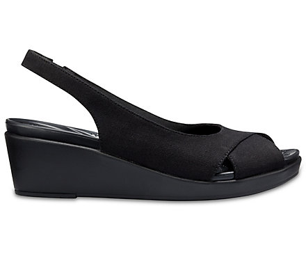 c63954bed4 Women's Crocs Leigh Ann Slingback Wedges - Crocs