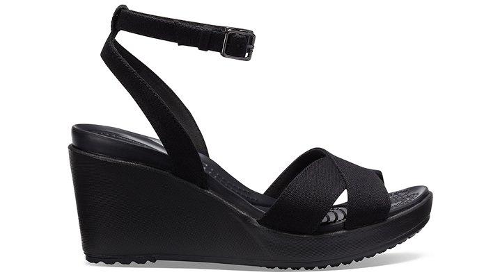 Crocs-Womens-Leigh-II-Cross-Strap-Ankle-Wedge thumbnail 8