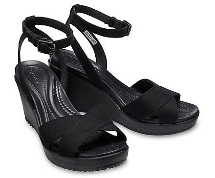 Women's Leigh II Cross Strap Ankle Wedge Crocs