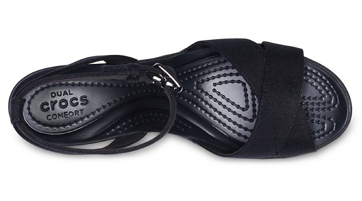 Crocs-Womens-Leigh-II-Cross-Strap-Ankle-Wedge thumbnail 10
