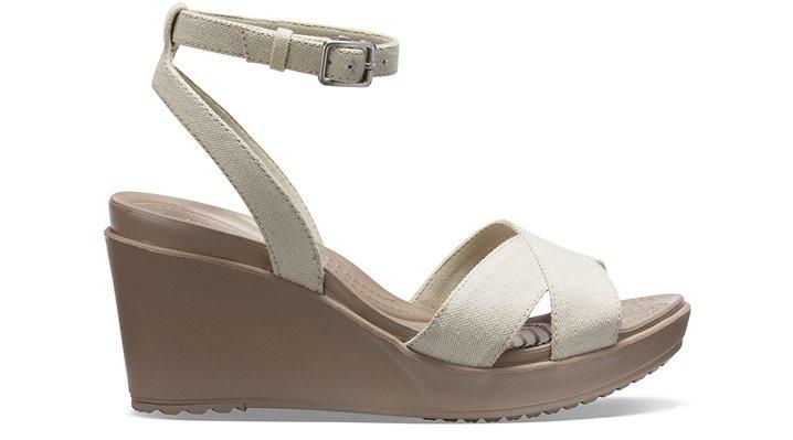 Crocs-Womens-Leigh-II-Cross-Strap-Ankle-Wedge thumbnail 20