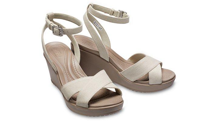 Crocs-Womens-Leigh-II-Cross-Strap-Ankle-Wedge thumbnail 21