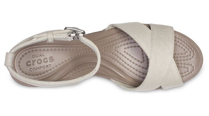 Crocs-Womens-Leigh-II-Cross-Strap-Ankle-Wedge thumbnail 22