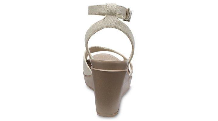 Crocs-Womens-Leigh-II-Cross-Strap-Ankle-Wedge thumbnail 24