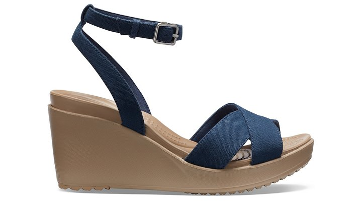 Crocs-Womens-Leigh-II-Cross-Strap-Ankle-Wedge thumbnail 14