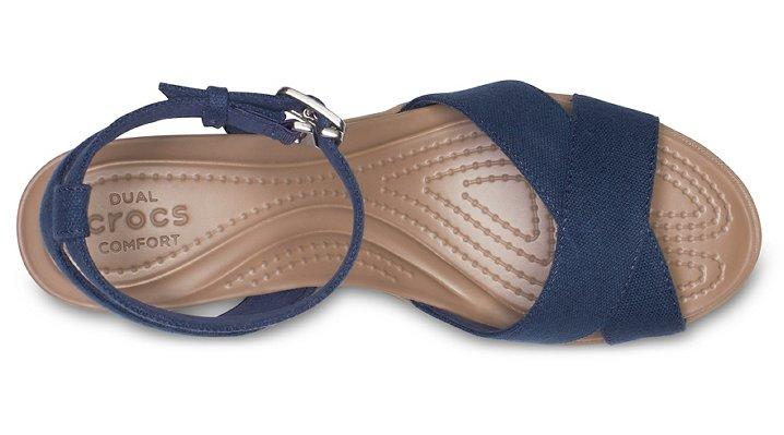Crocs-Womens-Leigh-II-Cross-Strap-Ankle-Wedge thumbnail 16