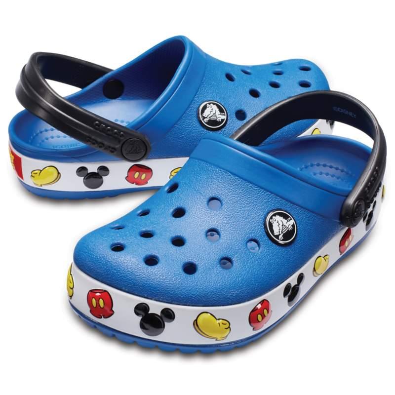 """【クロックス公式】 クロックバンド 「ミッキーマウス」 クロッグ キッズ Kids' Crocband Disney """"Mickey Mouse"""" Clog ユニセックス、キッズ、子供用、男の子、女の子、男女兼用 ブルー/青 14cm,15cm,15.5cm,16.5cm,17.5cm,18cm,18.5cm,19cm,19.5cm,20cm,21cm clog クロッグ サンダル"""
