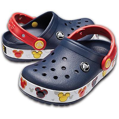 a62bc3fe Crocs Kids' Crocband Fun Lab Disney Mickey Mouse Lights Clog Navy Blue