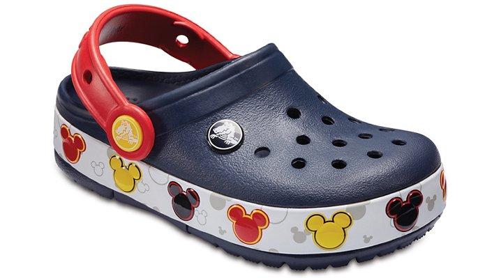 cae0382531 Crocs Kids Crocband™ Mickey Mouse Fun Lab Lights Clog