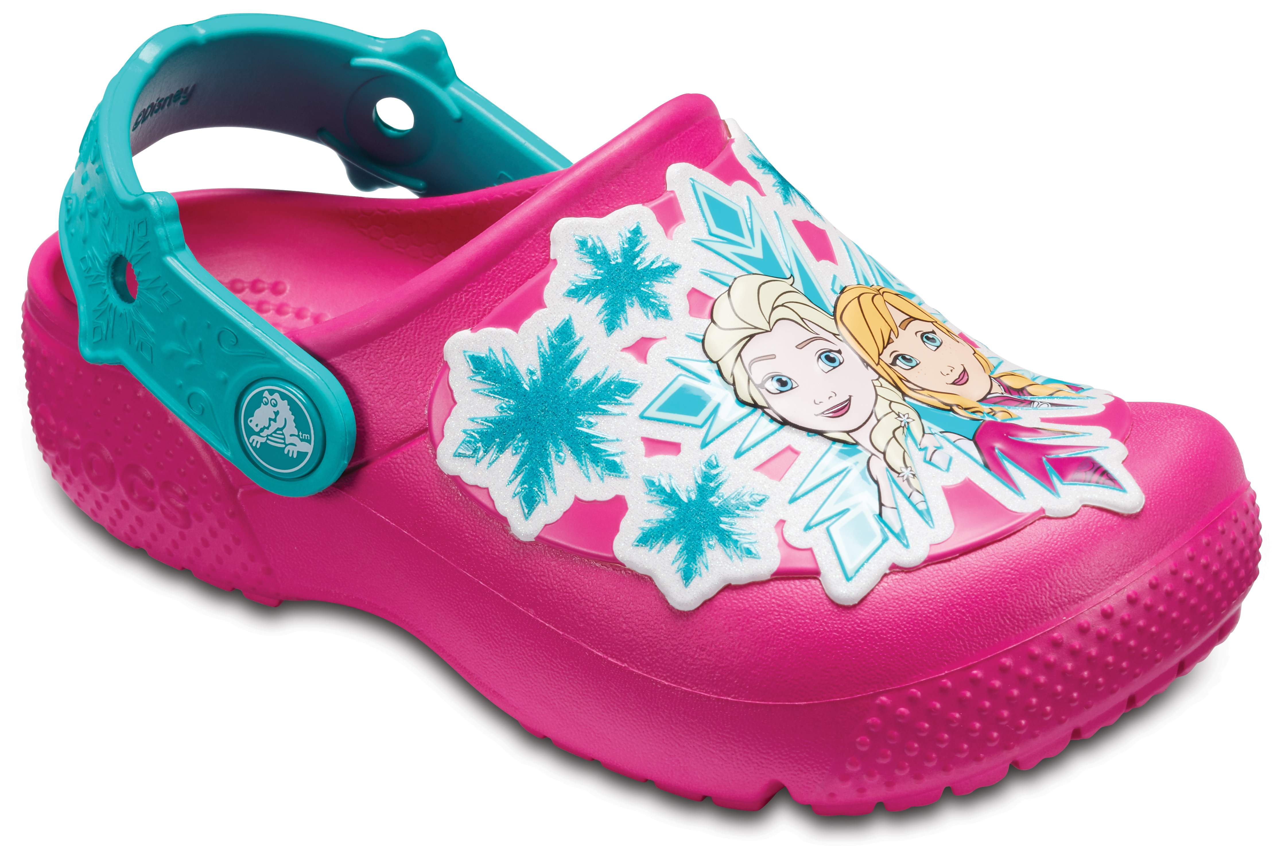 crocs Fun Lab Frozen Clog Kids, Mädchen Clogs, Pink (Candy Pink), 34/35 EU