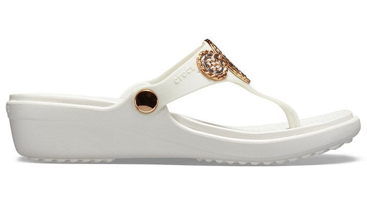 Crocs-Womens-Sanrah-Embellished-Diamante-Wedge-Flips thumbnail 20