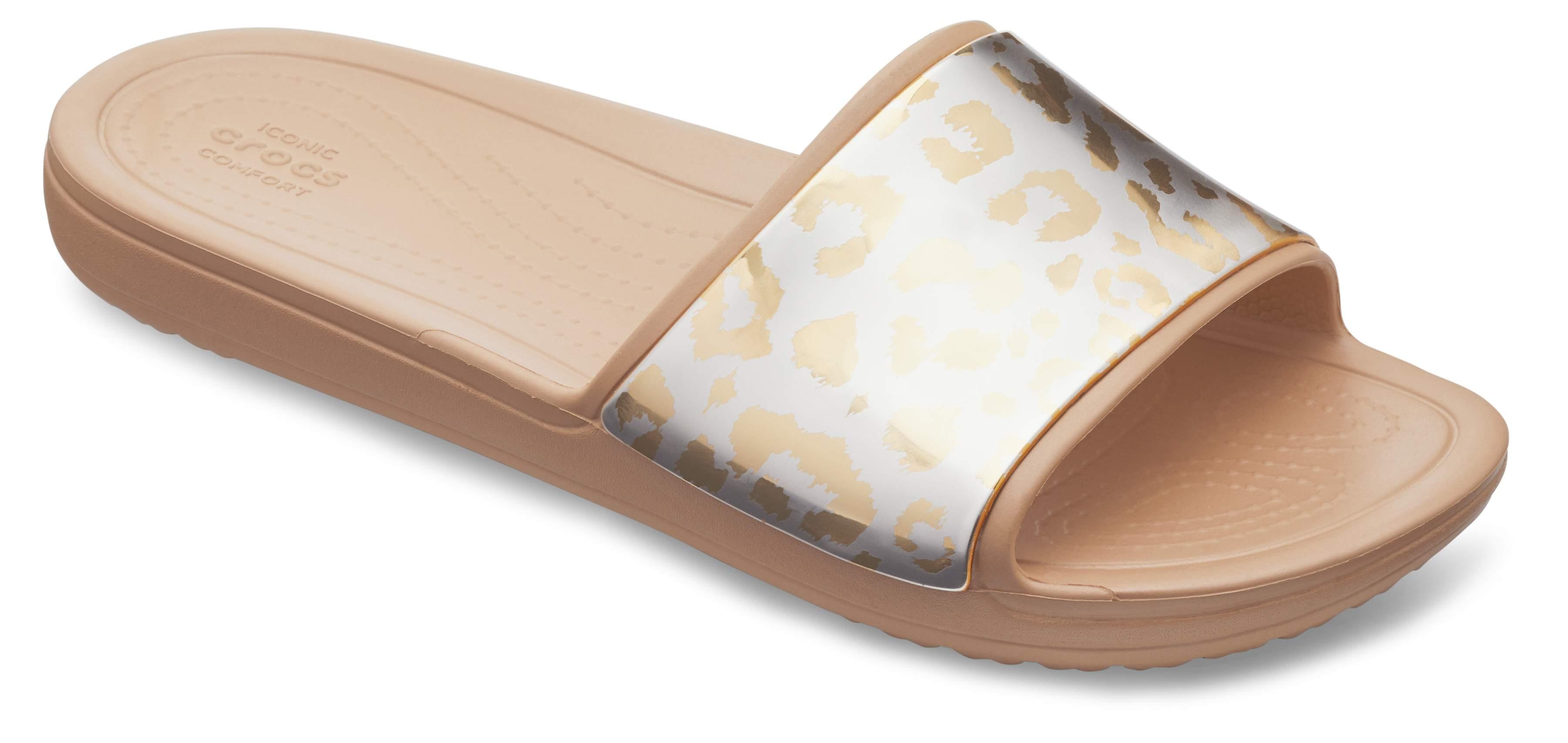 Sloane Graphic Metallic Slide Crocs