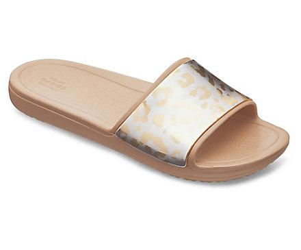 Sloane Graphic Metallic Slide Crocs LkP4e
