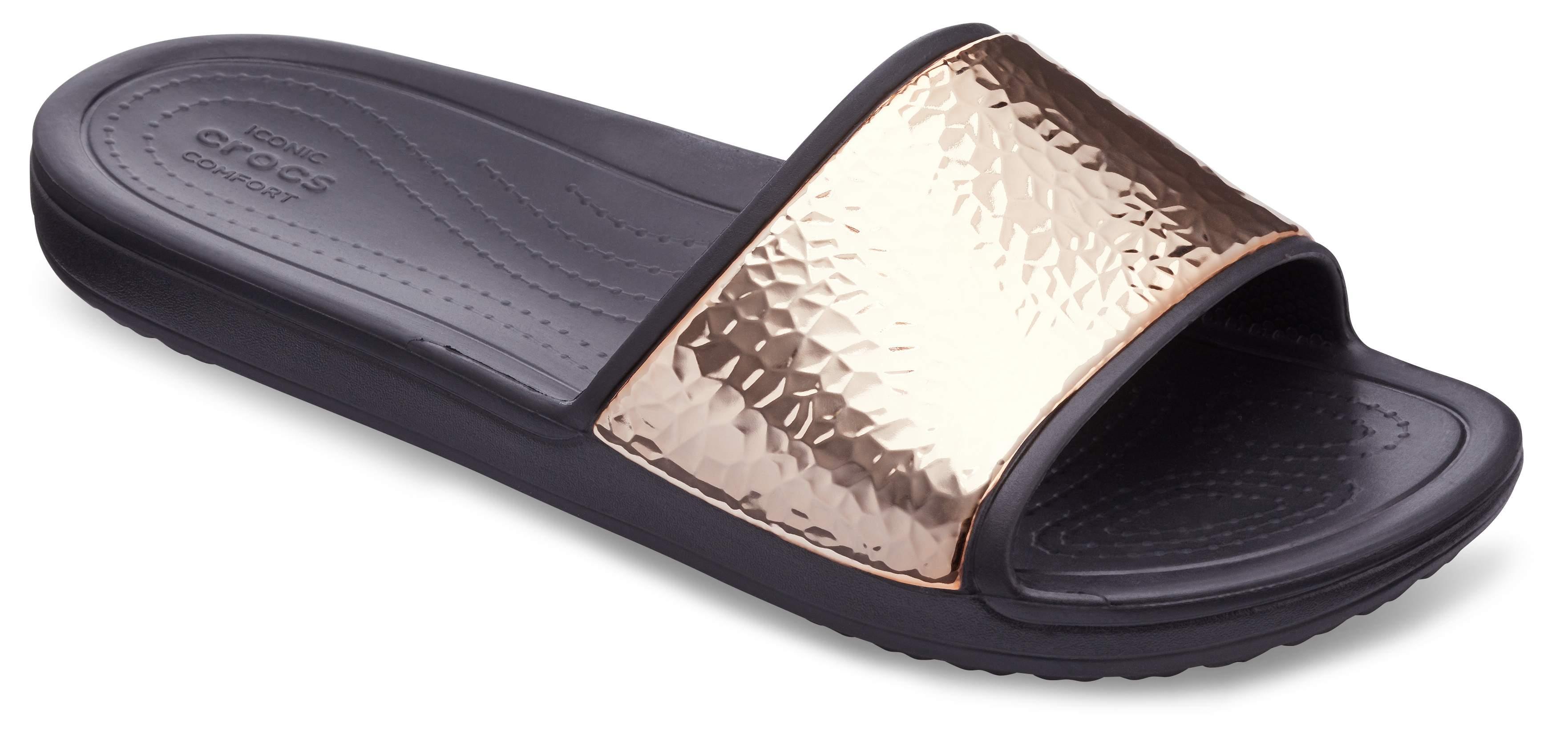 Sloane Hammered Metallic Slides