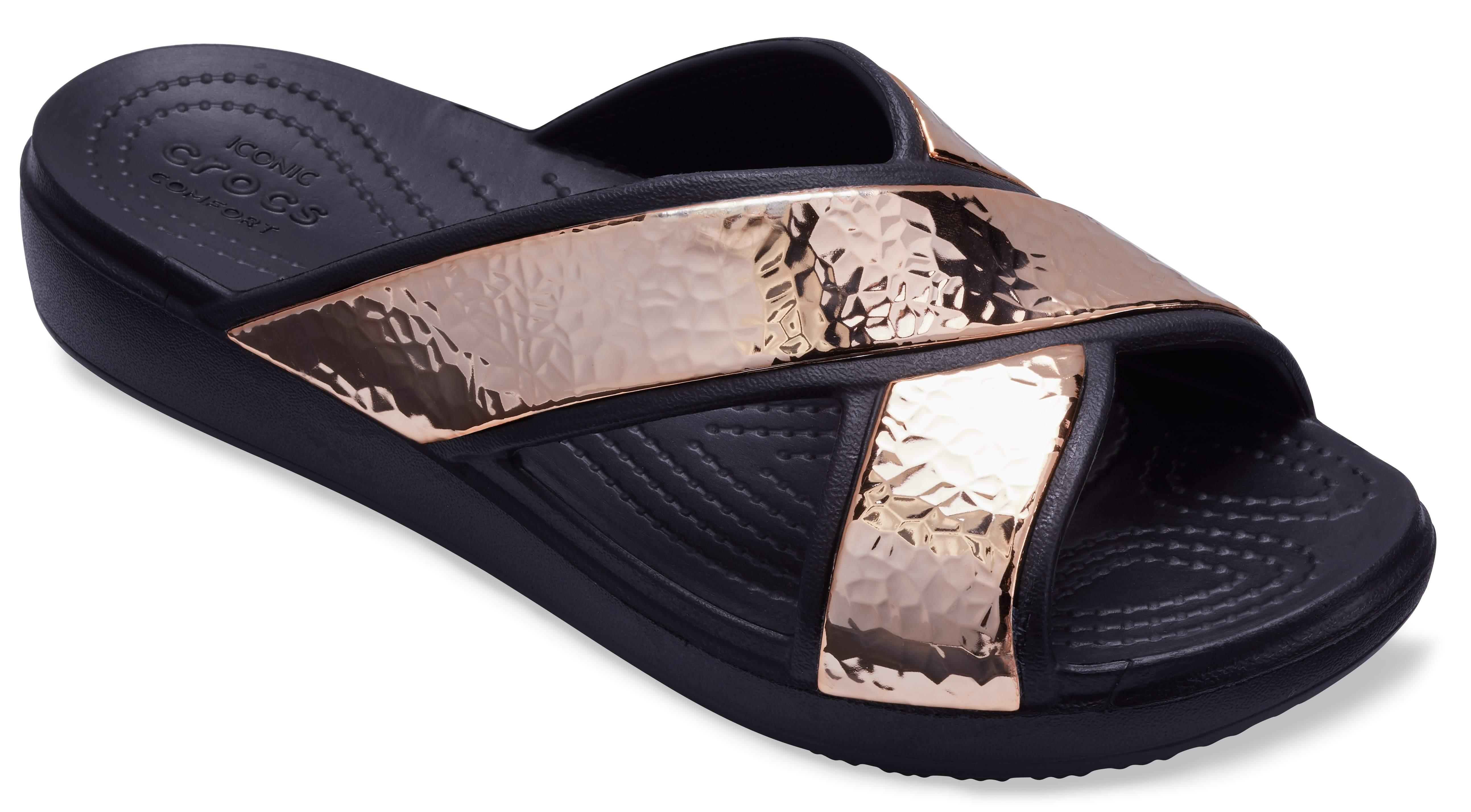 CrocsSloane Hammered Metallic Slide