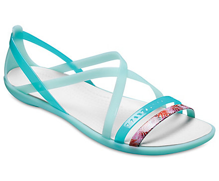 a0715379cb77d4 Women s Crocs Isabella Cut-Out Graphic Strappy Sandal - Crocs