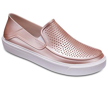 b6783b0a02d247 Women s CitiLane Roka Metallic Slip-On - Shoe - Crocs