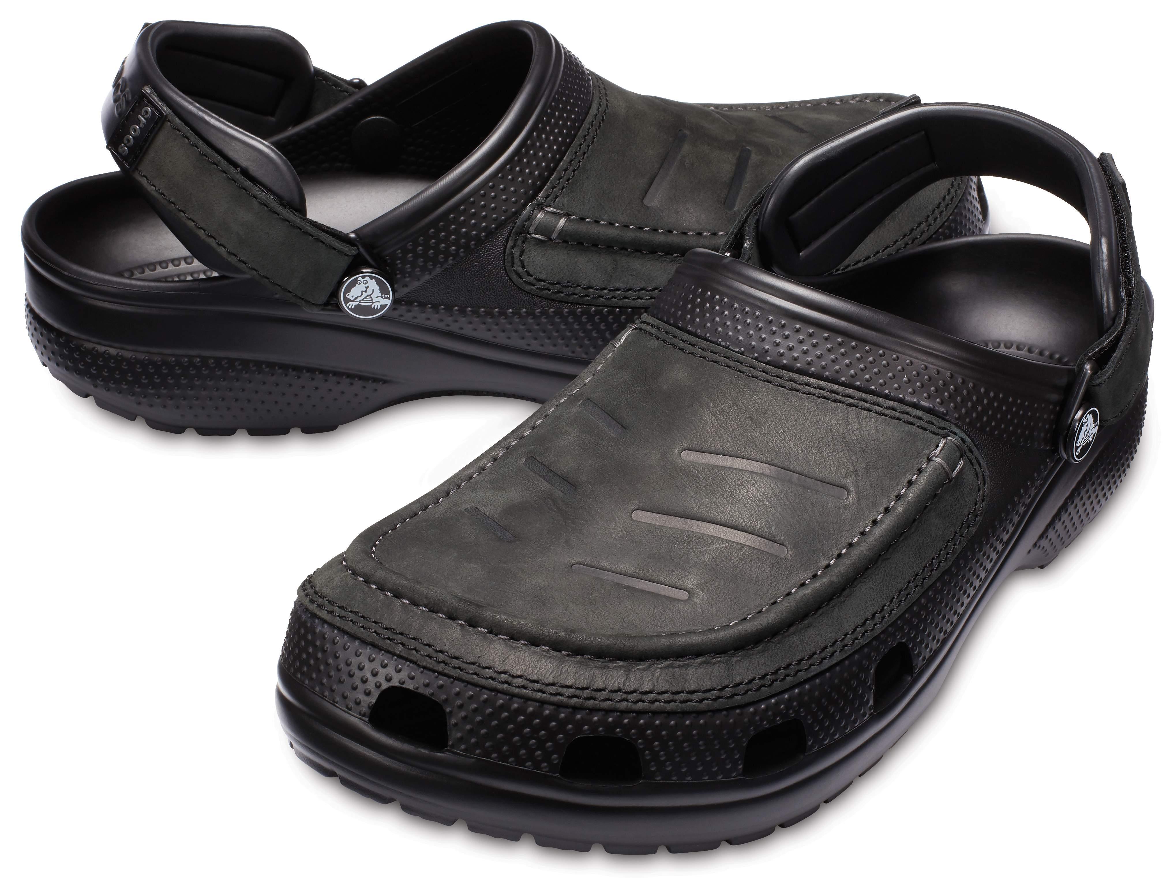 Crocs Yukon Vista Clogs Herren Leder Wandern Einstellbar Comfort Sandalen Schuhe