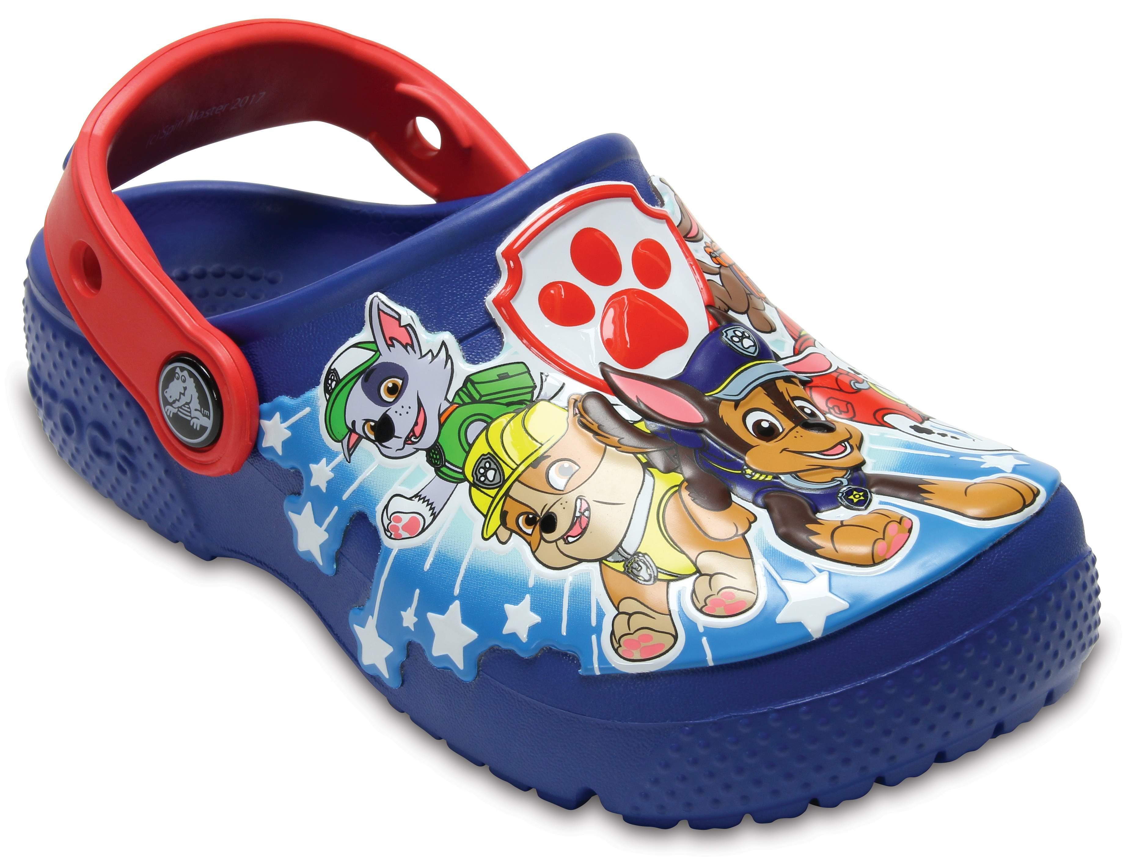 crocs Kids Fun Lab Paw Patrol Clog Croslite Slip on Blue Jean Size 13