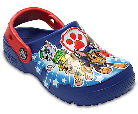 crocs Kids Fun Lab Paw Patrol Clog Croslite Slip on Blue Jean Size 13 bDop5h