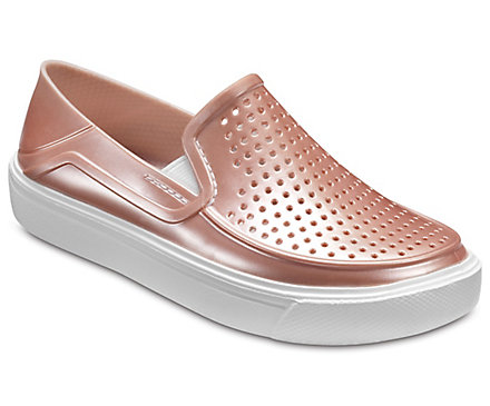 a516fc48de Kids  CitiLane Roka Metallic Slip-On - Shoe - Crocs