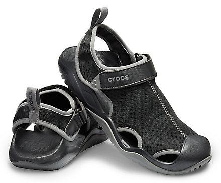 1cb487eadcc9 Men s Swiftwater Mesh Deck Sandal - Crocs