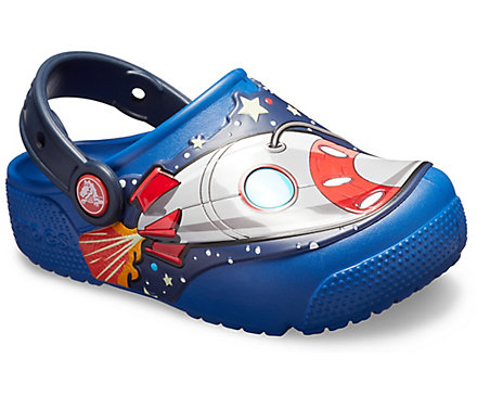 Kids' Crocs Fun Lab Space Explorer Lights Clog