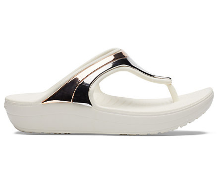 e029413a7df Women s Crocs Sloane MetalBlock Wedge Flip - Crocs
