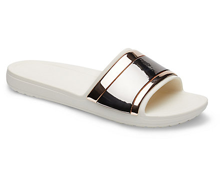 a84f35dff Women's Crocs Sloane MetalBlock Slide - Crocs
