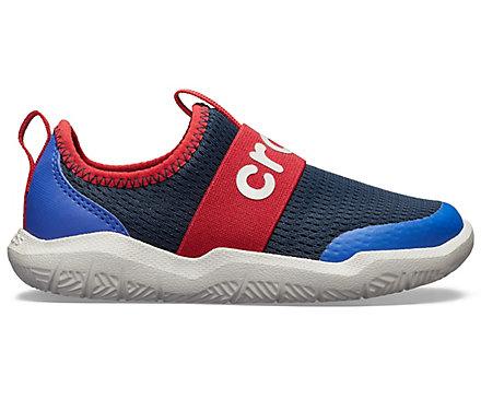 3d9c0865f346 Kids  Swiftwater Easy-On Logo Shoe - Crocs