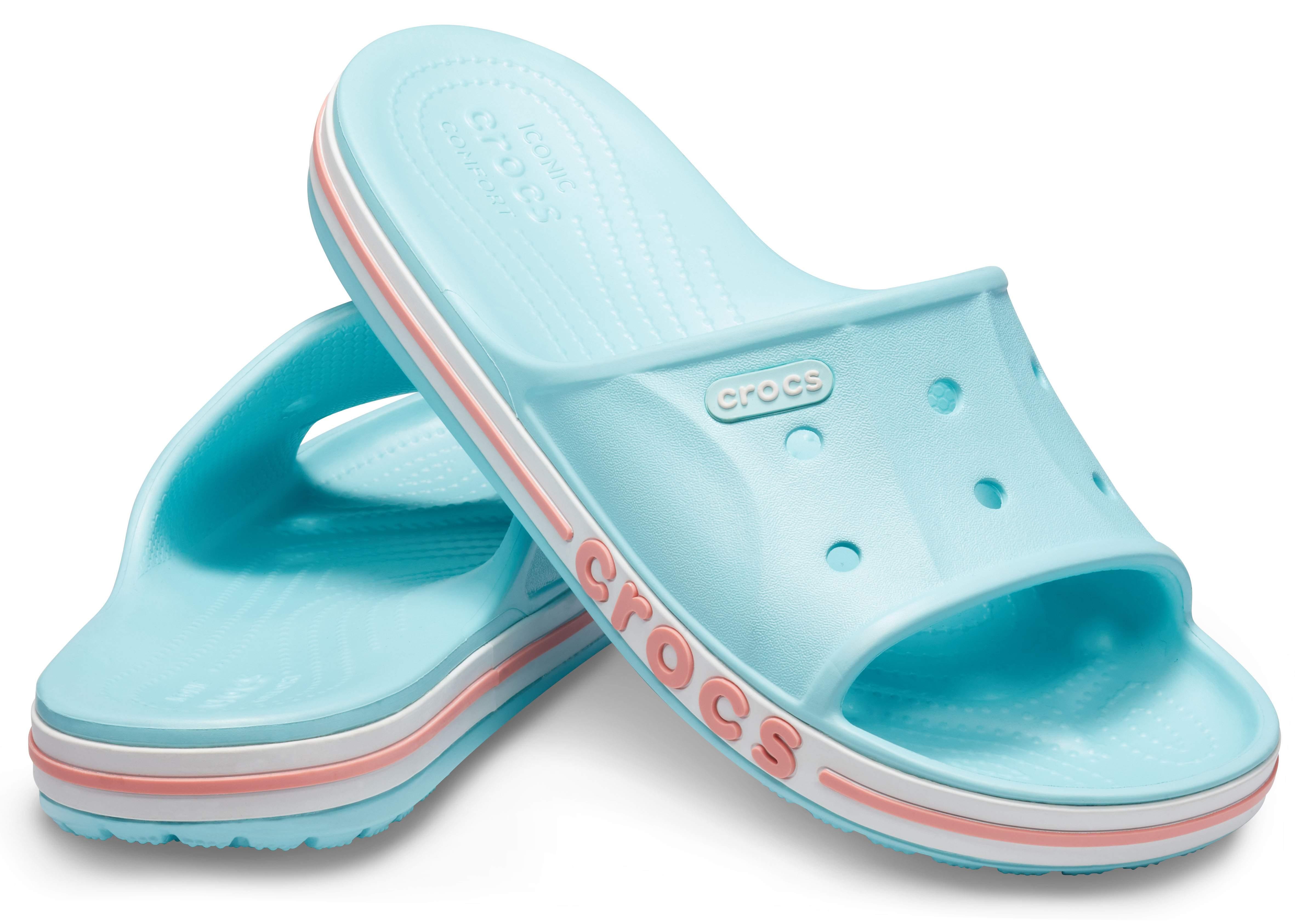 Image of Crocs Bayaband Slide Ice Blue / Melon 205392-4JF
