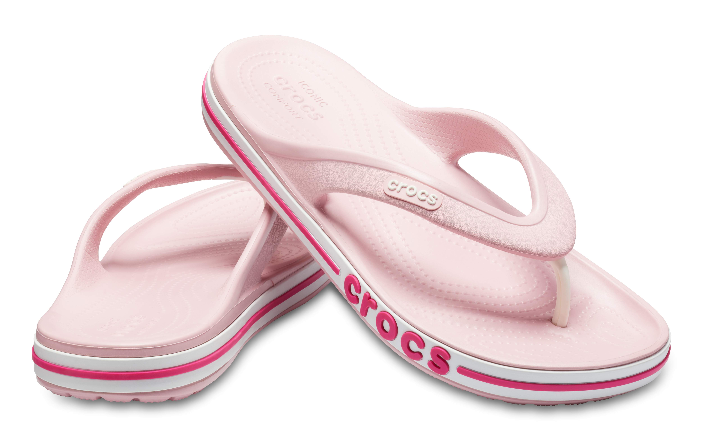 Image of Crocs Bayaband Flip Petal Pink/Candy Pink 205393-6OV