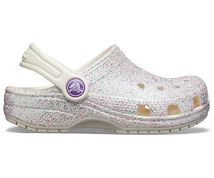 Crocs Kids Kids Classic Glitter Clog Slip On