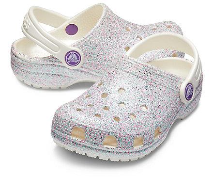 2 Colors Crocs Infant//Toddler//Little Kids/' Classic Roomy Glitter Clog Shoes