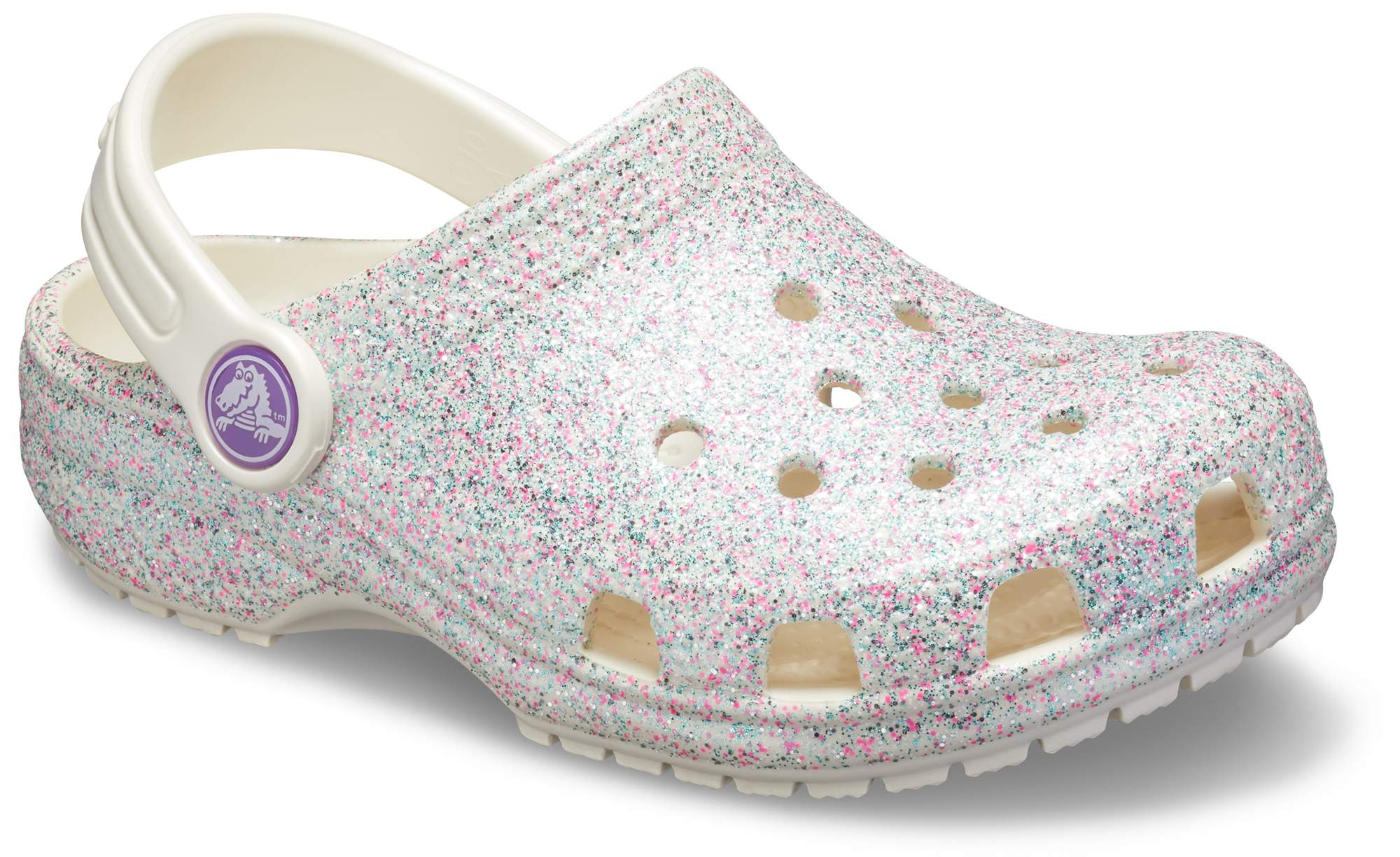Crocs Kids Crocband Sequin Band Clog 13 M US Little Kid Barely Pink