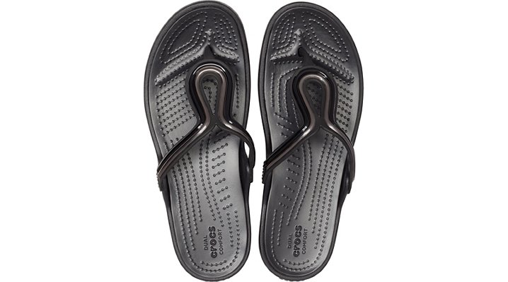 Crocs-Womens-Sanrah-Metal-Block-Flat-Flip thumbnail 10