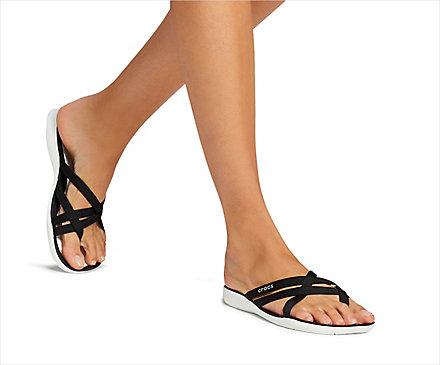 Crocs Women's Swiftwater Webbing Sandal Sandals Pool White | W5 (US)