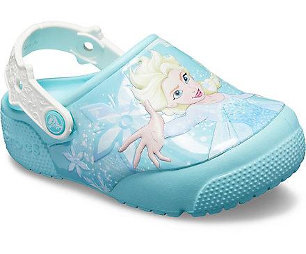e00e79b7d4174c Kids  Crocs Fun Lab Frozen Elsa Lights Clog - Crocs