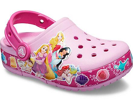 04fe77d116bbe2 Kids  Crocs Fun Lab Multi-Princess Band Lights Clog - Crocs