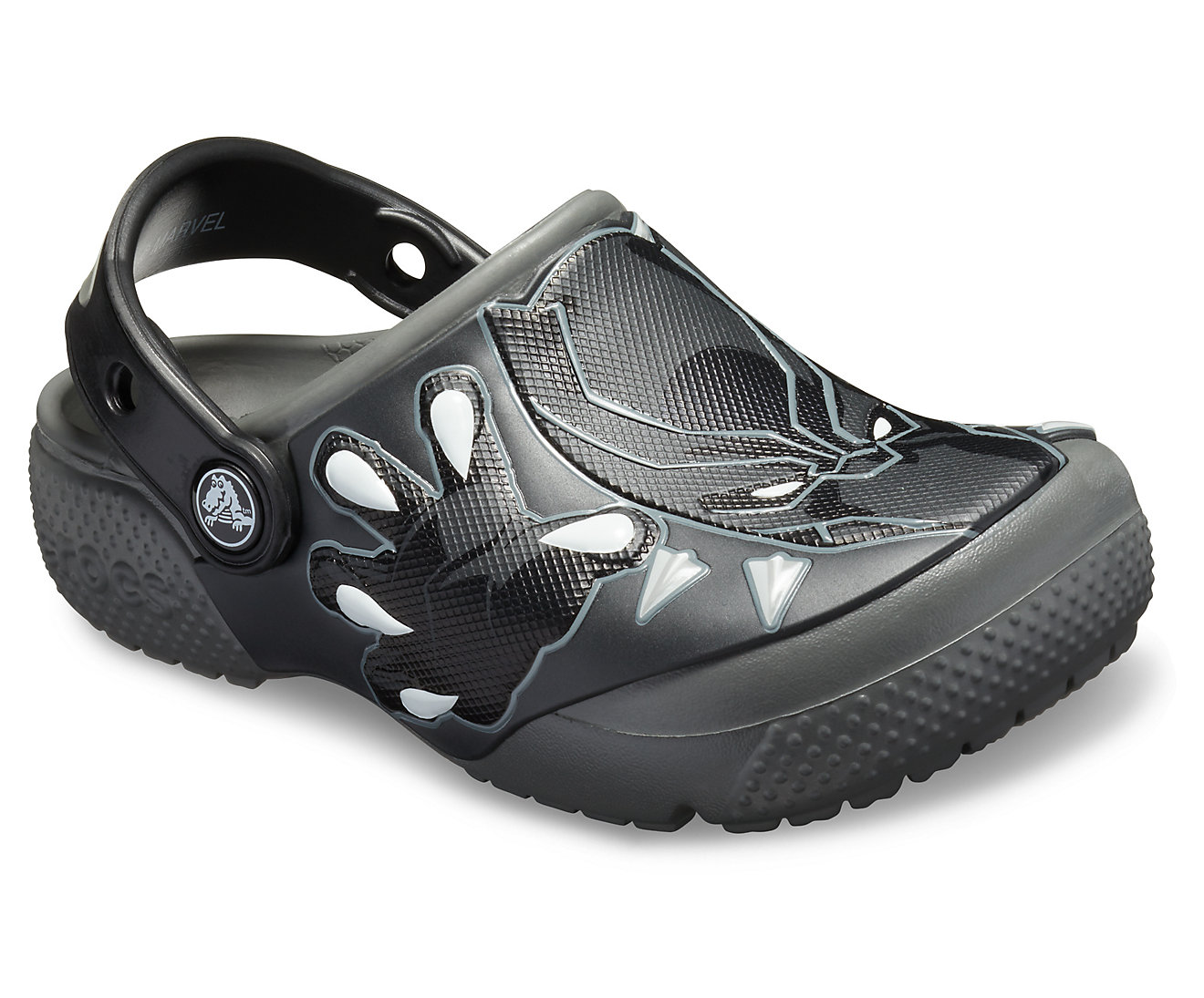 Crocs Kids' Fun Lab Black Panther Clogs