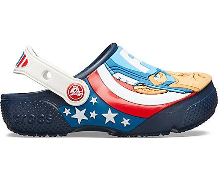 Crocs Kids/' Crocs Fun Lab Captain America Clog Children Girls Boys