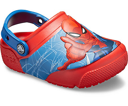 a8e37f1b7 Kids  Crocs Fun Lab Spider-Man Lights Clog - Crocs