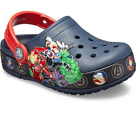 d1ea454a65ded4 Kids  Crocs Fun Lab Marvel Band Lights Clog - Crocs