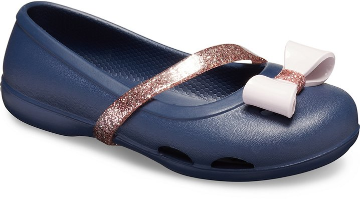 f531ef23754393 Details about Crocs Kids Lina Charm Flat
