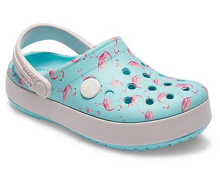 Crocs 205532 CROCBAND MULTIGRAPHIC CLOG Kids Summer Lightweight Comfort Clogs