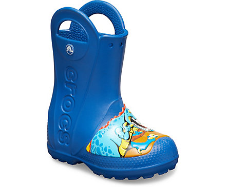 Kids' Crocs Fun Lab Dinosaur Rain Boot