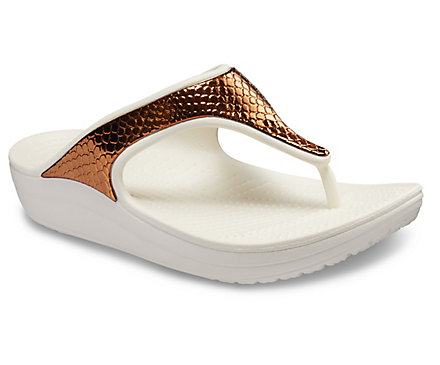5b164fc5e Women s Crocs Sloane Metallic Texture Flip - Crocs
