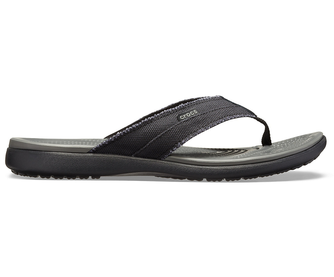 Crocs Santa Cruz Canvas Flip Men Black/Slate Grey